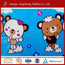 New design 100% polyester printed child/baby flannel fabric/child fleece fabric made in China JC04264