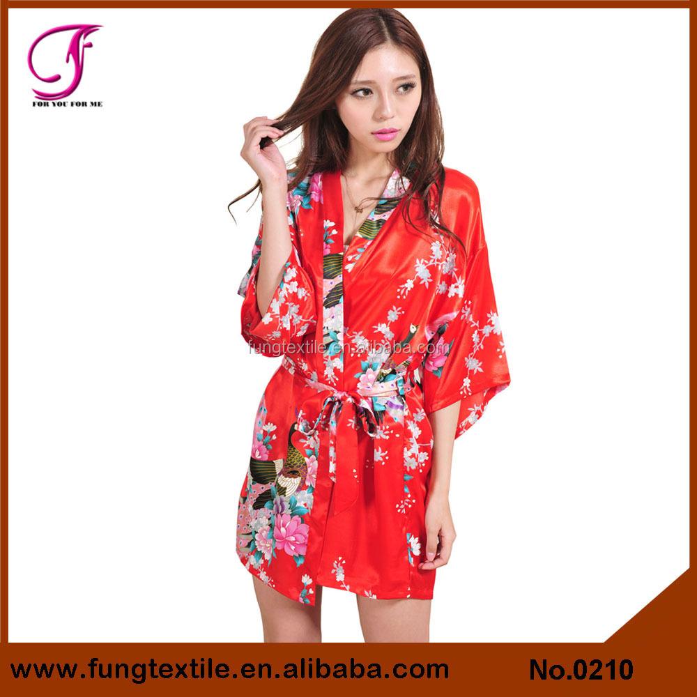 les femmes en satin kimono design 0211 court pyjama. Black Bedroom Furniture Sets. Home Design Ideas