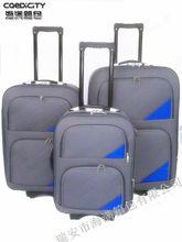 2012 cheap soft eva fabric trolley baggage