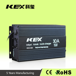 Original Manufacturer Supply external battery charger ac 220v dc 12v 30Ah battery charger intelligent controlled by MCU KEX-30A