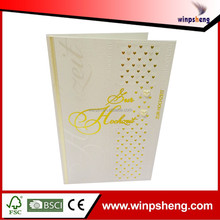Hard Cover Wedding Invitation Card/Party Place Card