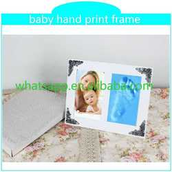 2015 hot baby hand print frame dog footprints design blue ceramic puppy bowl