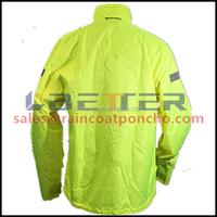 Special design waterproof hooded yellow rainwear