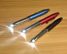 Promotional plastic light tip ball pen