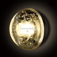 Modern Led meteor shower Starry Sky Lighting Fancy Ball Half Moon Glass Wall Light