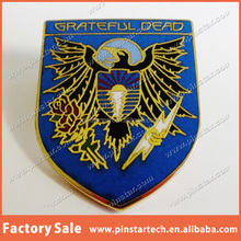 China Supplier wholesale Custom high quality new products scutella Grateful Dead lapel Pin badge Vintage