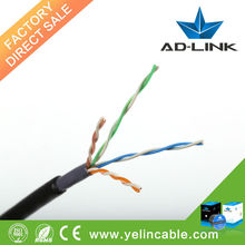 High performance 0.51mm lan cable 305m/roll wooden reel cat5e utp outdoor network cable