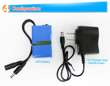12V Rechargeable polymer lithium battery for IP/CCTV Camera,Led Lights, Portable DVD VCD Player power supply battery backup