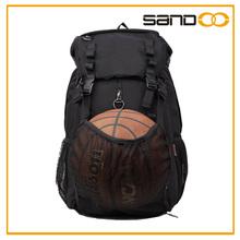 La escuela de deportes de rugby, de baloncesto, mochila de voleibol, negro de los hombres del deporte del fútbol mochila