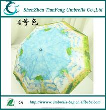 Van Gogh's painting umbrella style 3 fold umbrella Chinese umbrella