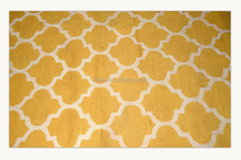 hot sale square pattern hand made carpet for restaurant and hotel
