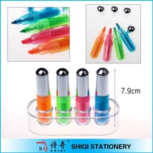 2015 classic colorful mini highlighter pen set