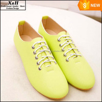 Women Shoes Woman 2016 New Brand Fashion Canvas Low Breathable Round Toe Lace Up Casual Ladies Flats Candy Plus Size