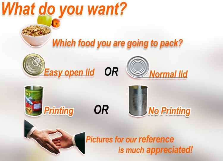 Lata vazia de conservas de embalagem de alimentos