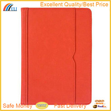 Multi-angle leather stand case with pocket for ipad, frame folio case for ipad mini