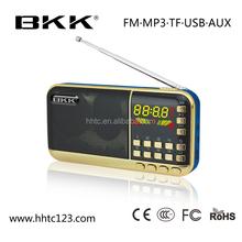FM radio mini digital speaker, LED lamp torch speaker