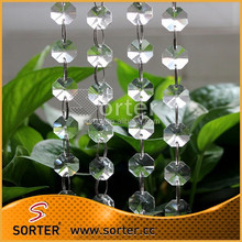charming and elegant crystal bead chain for room dividers/home decoration