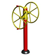 Residential Community Body Training Double Direction External Training Outdoor Public Fitness Equipment Rotating Wheel