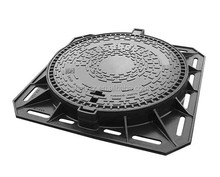 Round Manhole Cover with Square Cover for Municipal Construction