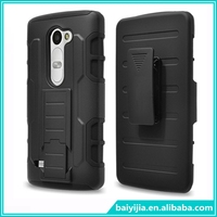 PC Silicone Combo Hybrid Stand Case with Belt Clip Rugged Hard Robot Mobile Phone Cover for Leon C40 LS665
