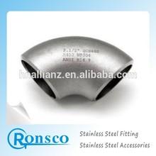 316l 6 pulgadas sch10 LR codo de acero inoxidable precios proveedor