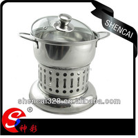 Popular Stainless Steel Portable Camping Alcohol Hot Pot
