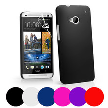 Frosted Matte Skin Hard Plastic Case For HTC One M7/M8+Screen Film