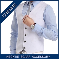 New most popular fashion mens polyester woven waistcoat