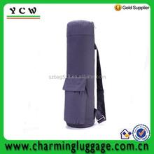 Zippered canvas cotton yoga mat bag with pocket