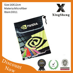 fashion custom pouches, microfiber drawstring pouch, cloth pouch