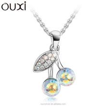 OUXI cherry shaped crystal jewelry, woman jewelry wholesale china 10749