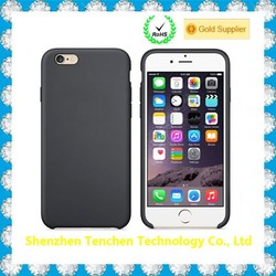 Plastic Painted with Microfiber inside phone case for iphone 6 skeleton