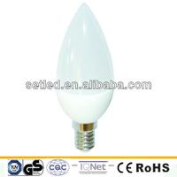220V 3W SMD2835 6000K Plastic High quality CE RoHS LED Candle E14