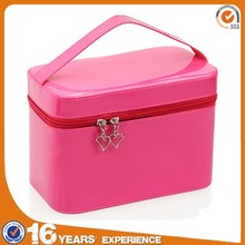 Hard side cosmetic display case and box for beauty cosmetic case