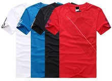 2015 New style 100% cotton round neck mens half sleeve printing t shirt