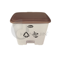 Hongjin 30L Eco-friendly Plastic Foot Pedal Waste Bin