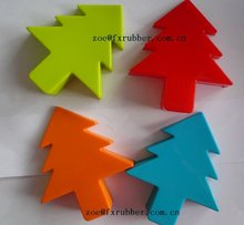 Hot sale christmas tree shape decorative fashion design silicone rubber door stopper