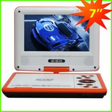 Venta al por mayor 7 pulgadas portátil de pequeño tamaño TV con DVD y función de juego