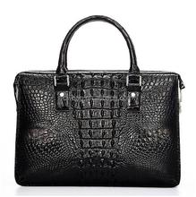 Crocodile leather handbags men wholesale OEM in China