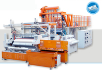 automatic three layer or five layer co-extrusion cast lldpe stretch film making machinery production line