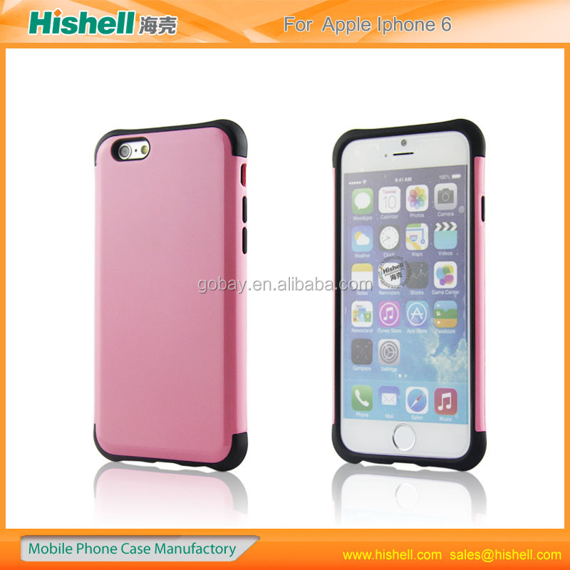 2015 PC+TPU mobile phone case for iphone 6