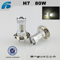 Auto fog light car LED H7 80W CREE*16pcs 9V-30V 80w Auto Bulb