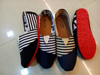 Stripe personality shoes casual cloth shoes from 24 to 46 sizes