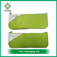 2016 stylish promotion green color cute cheap pencil pouch, pen bag, pencil cases
