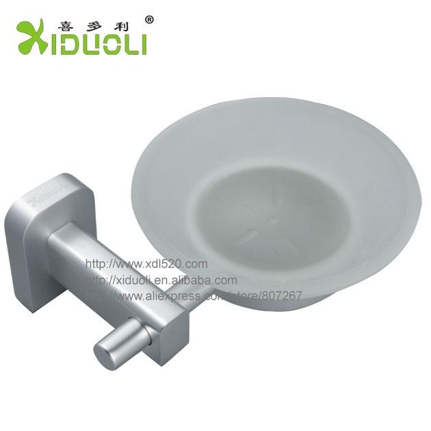 реальные стекла сплошной пространства алюминия круглый держатель мыла окно ванной Аксессуары xdl-6106
