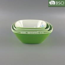 hot sale Plastic melamine two tone color mixing bowl