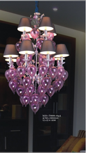 Beautiful colored glass chandeliers