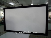 seamless screen fabric. high quality. fixed frame projector screen