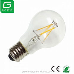 Galss cover led lens 360 degrees e27 A60 3.5w filament led lamp CE ROHS