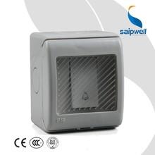 SAIPWELL/SAIP Hot Sale Electrical 20A/250V IP55 Push Button 1 Gang waterproof doorbell switch